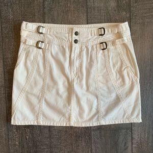 Free People Side Buckle Denim Mini Skirt